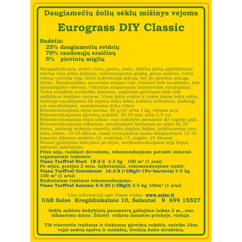 Vejų sėklų mišinys EG DIY Classic 250 g.